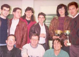 Kramnik e Illescas en el club ajedrez Alcobendas
